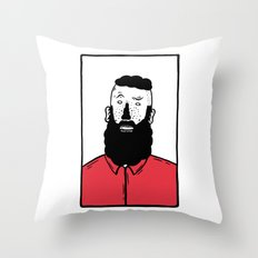 BearD Guy Throw Pillow