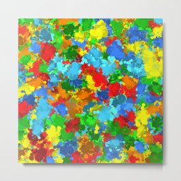 Multicolored splashes Metal Print