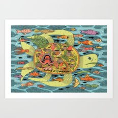 Giant Turtle Art Print