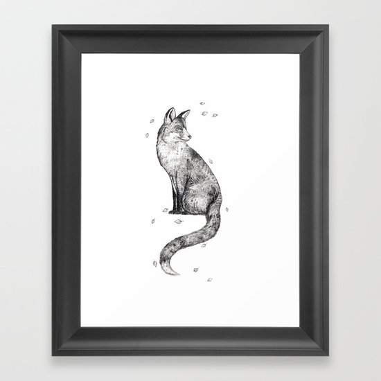 Foa // Graphite Framed Art Print