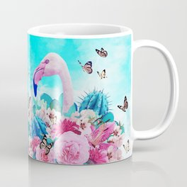 FLORAL FLAMINGO Coffee Mug