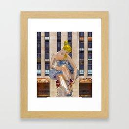 Seated Ballerina at Rockefeller Center 3 Framed Art Print
