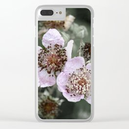 Delicate like you and me Clear iPhone Case