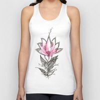 lotus flower Tank Tops featuring Lotus by Himadri Pachori