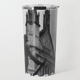 Soldier and cathedral Travel Mug