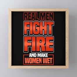Funny Firefighter Firefighter Fire Gift Framed Mini Art Print
