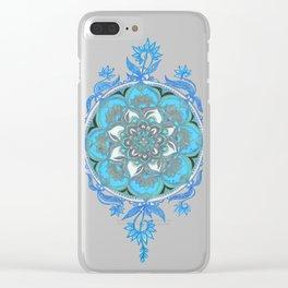 Mint Green, Blue & Aqua Super Boho Medallions Clear iPhone Case