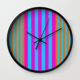 stripes modern pattern Wall Clock