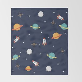 Space Pattern Throw Blanket