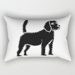 I have Connected the Beagle Doggy Dots! Rectangular Pillow