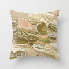 Pink botswana agate Throw Pillow