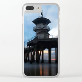 HB Pier Streaking Clear iPhone Case