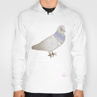 pigeon Hoodies featuring pigeon by QWUX