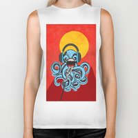 squid Biker Tanks featuring Squid by Janice