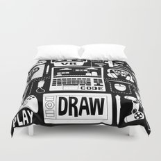 It's a Game Dev World Duvet Cover