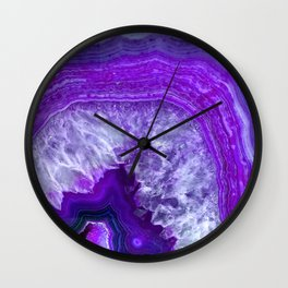 purple stone Wall Clock