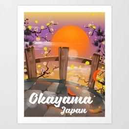 Okayama Japan blossom poster. Art Print