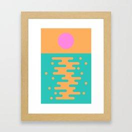 Paradise Sunrise Framed Art Print