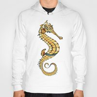 seahorse Hoodies featuring Seahorse by Andreas Preis