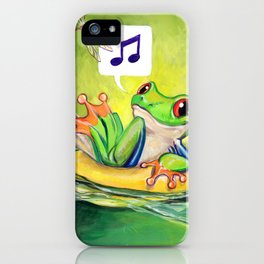 Lazy River Frog iPhone Case