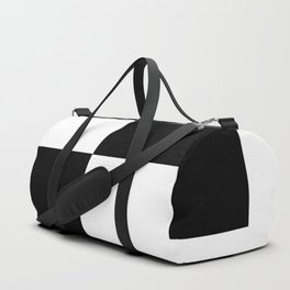 Black and White Color Block #2 Duffle Bag