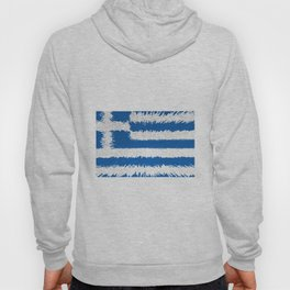 Extruded flag of Greece Hoody