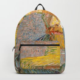 Self-Portrait with a Straw Hat - Vincent Van Gogh Backpack