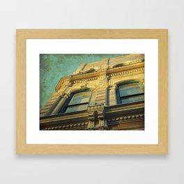 A Golden Facade Framed Art Print