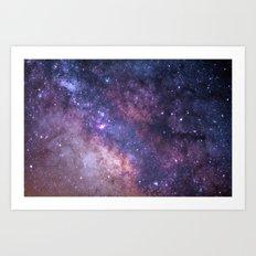 Purple Galaxy Star Travel Art Print
