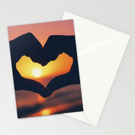 Heart Shaped Hands Stationery Cards