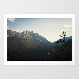 Glacial Valley in Montana Art Print
