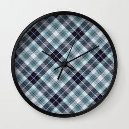 Scottish tartan #21 Wall Clock