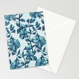 Morning Glories in Blue Stationery Cards