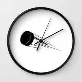Ice Hockey Puck Wall Clock