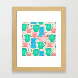 Jugs and Cups Pattern Framed Art Print