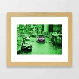 Green Venitio Framed Art Print