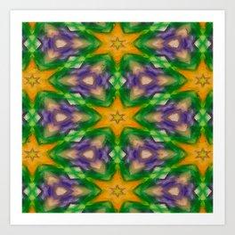 Mardi Gras stars #4509 Art Print