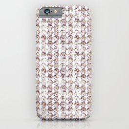 pattern-circle-pink iPhone Case
