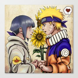 Naruto and Hinata Canvas Print