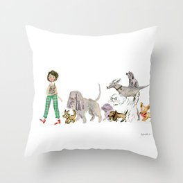 Doggy happiness Throw Pillow