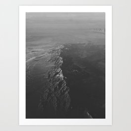 The Water (Black and White) Art Print