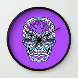 Lotus Skull Wall Clock