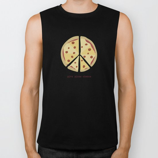 Give Pizza Chance Biker Tank