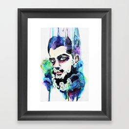 Daisy Beard Face Framed Art Print