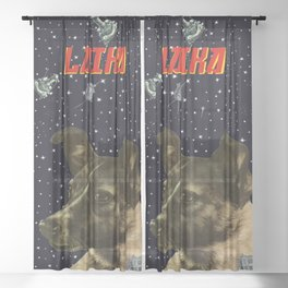 Gagarin space art #2 - Laika Sheer Curtain