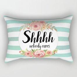 Shhh Shut up Rectangular Pillow