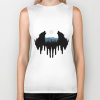 wolves Biker Tanks featuring Wolves by Viktor Macháček