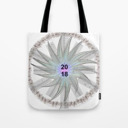 Kalender Calendar 2018 in a Circle Tote Bag