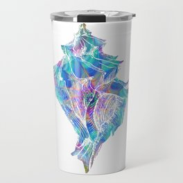 Magical Conch Shell Trippy Seashell Psychedelic Gift  Travel Mug