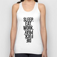 sleep Tank Tops featuring Sleep by LazyDog